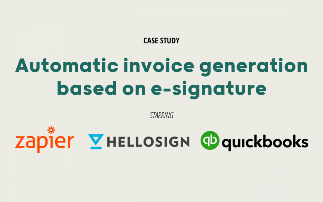Automate Quickbooks Online invoices based on e-signature from Hellosign using Zapier